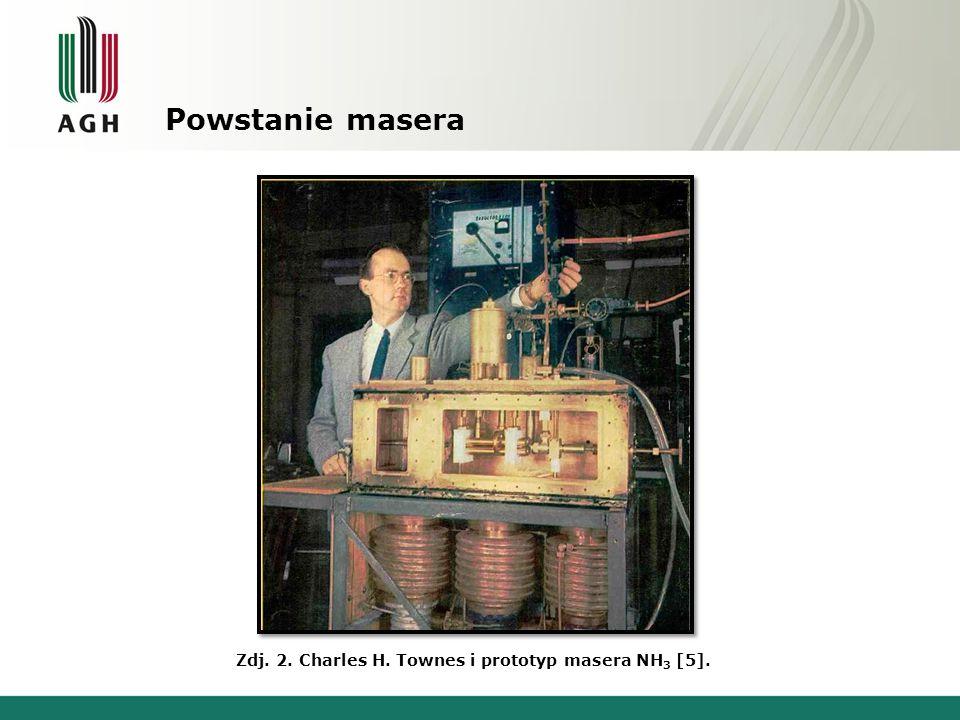 Powstanie masera Zdj. 2. Charles H. Townes i prototyp masera NH3 [5].